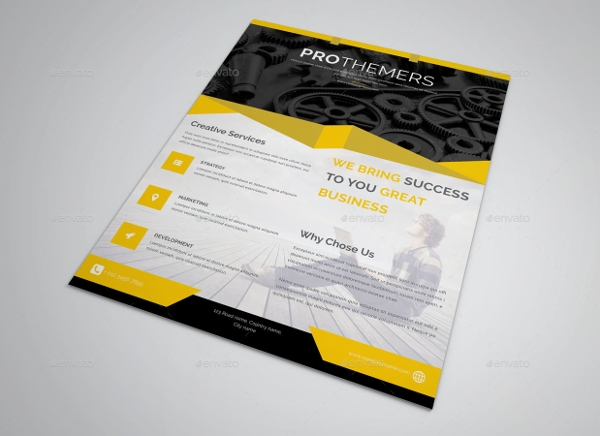 Cleaning Photoshop Corporate PSD Flyer