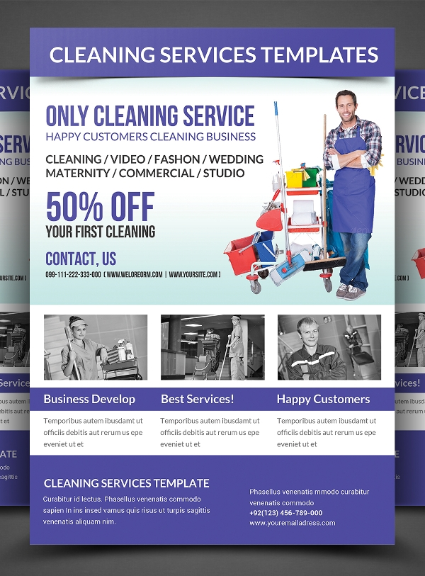 Cleaning Flyers  Psd Ai Eps Download