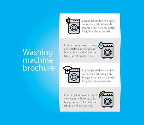 Cleaning Service Washing Machine Brochure