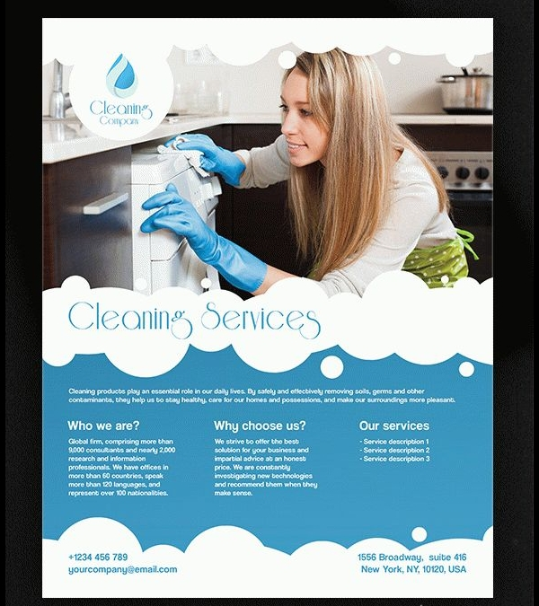25 cleaning flyers psd ai eps download