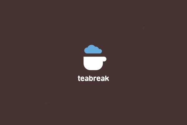 Cloudy Tea Break Logo Design