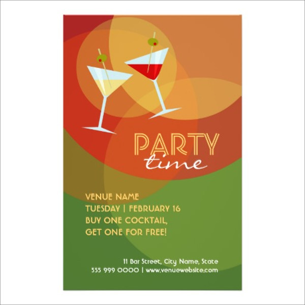 Club Cocktail Party flyer