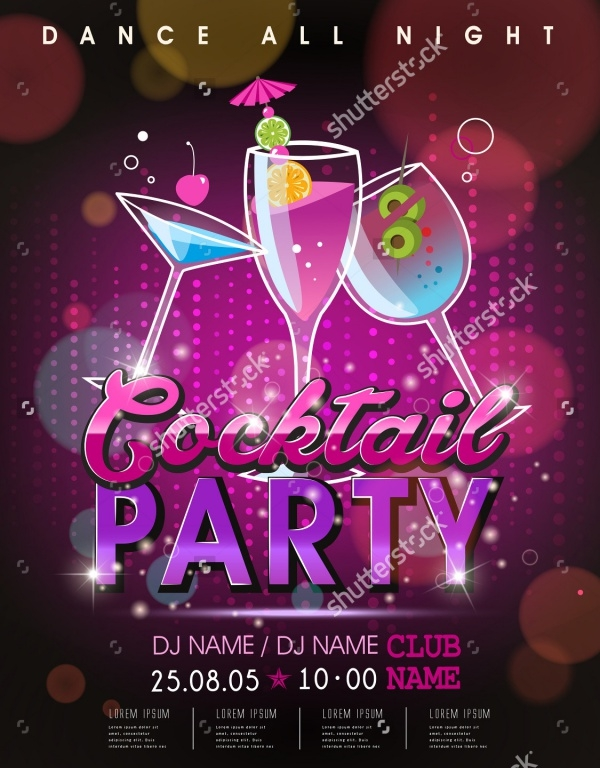 Cocktail PSD Flyer Design