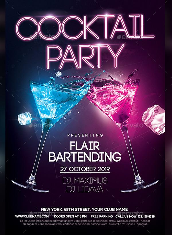 21  cocktail flyer designs