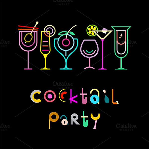 Cocktail Party Poster Invitation