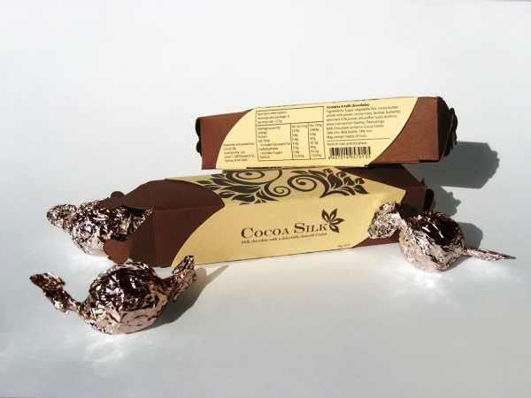 cocoa silk chocolate packaging