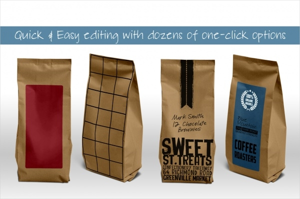 21 coffee packaging psd vector eps jpg download With coffee bag design template