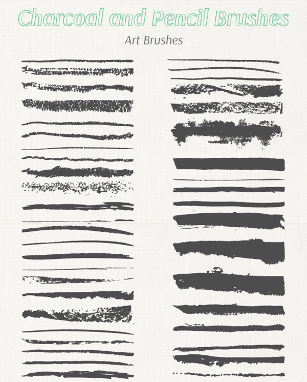 Collection of Charcoal & Pencil Brushes