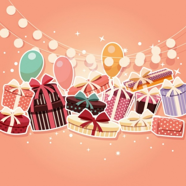 Colored Birthday Background Vector