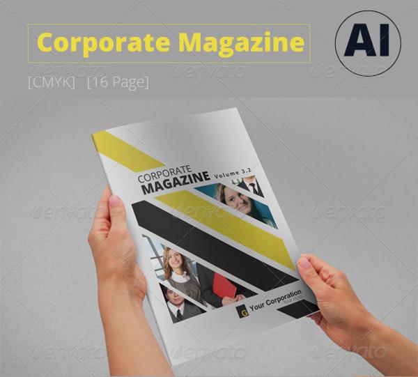 Colorful Corporate Magazine Template