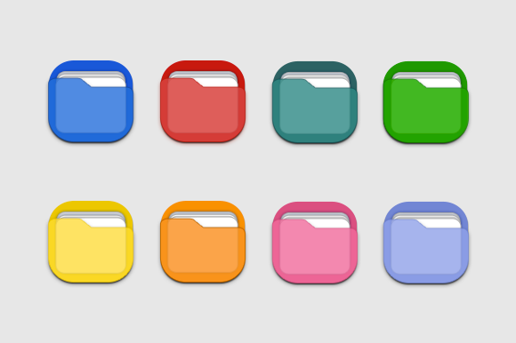 Colorful Folder 3D Icons