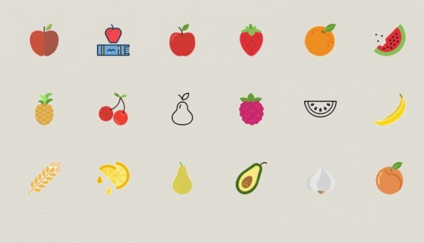 Colorful Fruit Icons For You