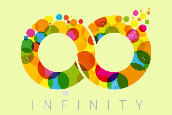 colorful infinity loop symbol logo