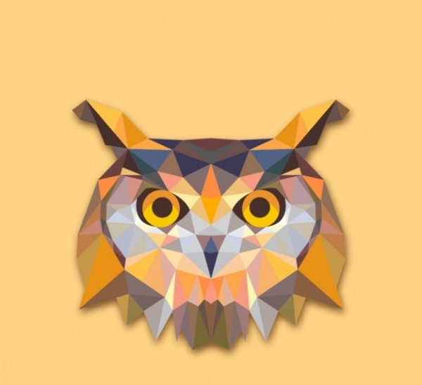 Colorful Polygonal Owl Illustration