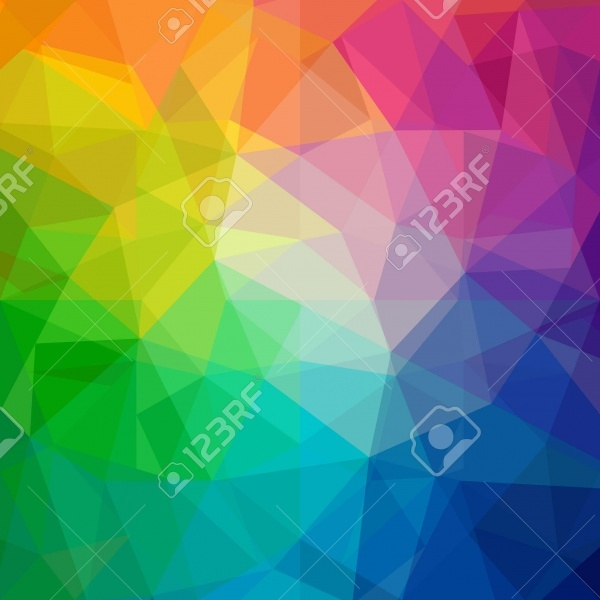 Colorful Polygonal Rainbow Texture