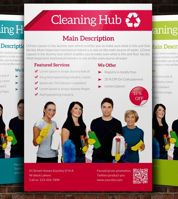 Commercial Cleaning Advertisement Flyer