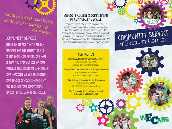Community Service Brochure Design Template