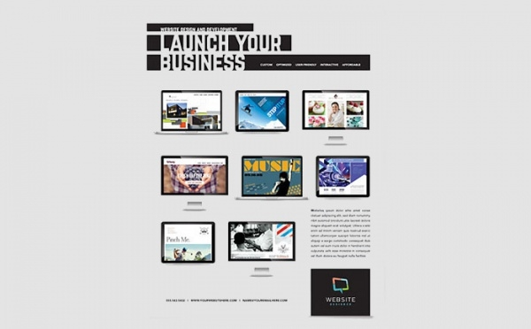 Computer Website Designer Flyer Template