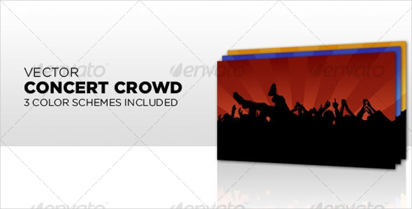 Concert Crowd Vectors