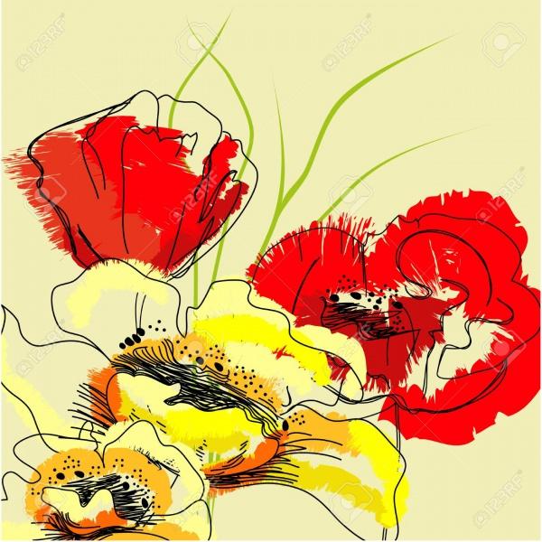 Cool Colorful Flower Illustration