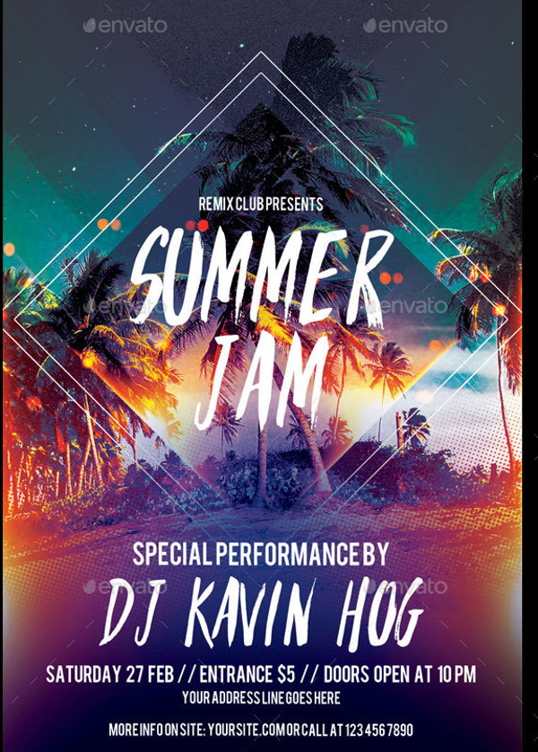 Cool Summer Event Flyer Design