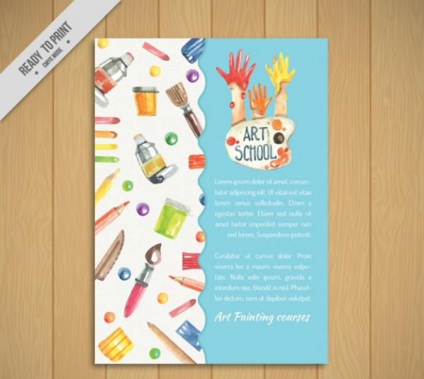 Corporate Art School Flyer