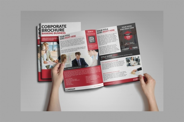 Corporate Bi-Fold Brochure for Bank