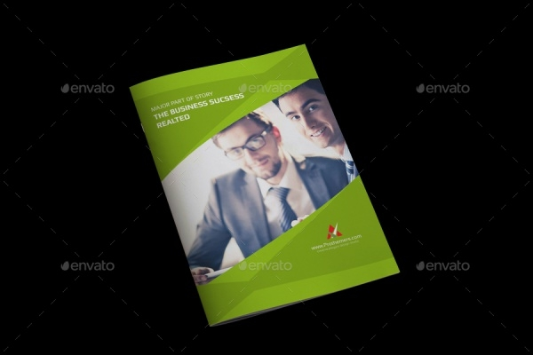 Corporate Commercial Bi-fold Brochure Template
