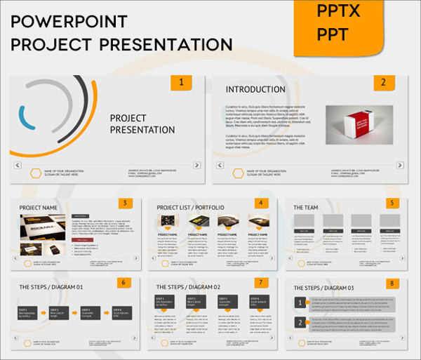 project presentation slides format