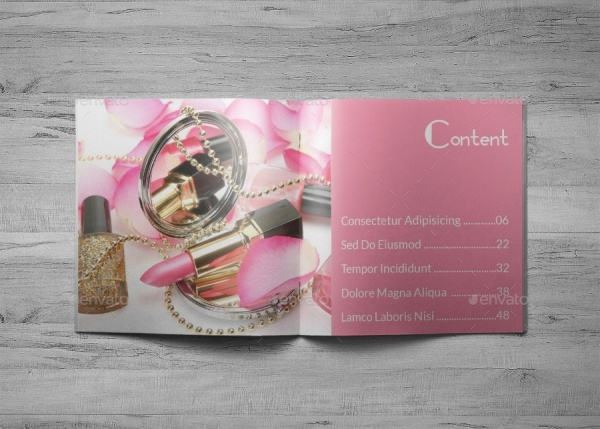 Cosmetic InDesign Brochure