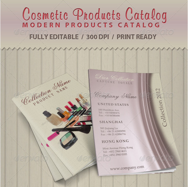 Cosmetic Product Catalog Brochure Design