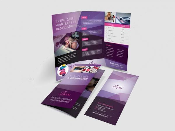 Cosmetic Tri Fold Brochure