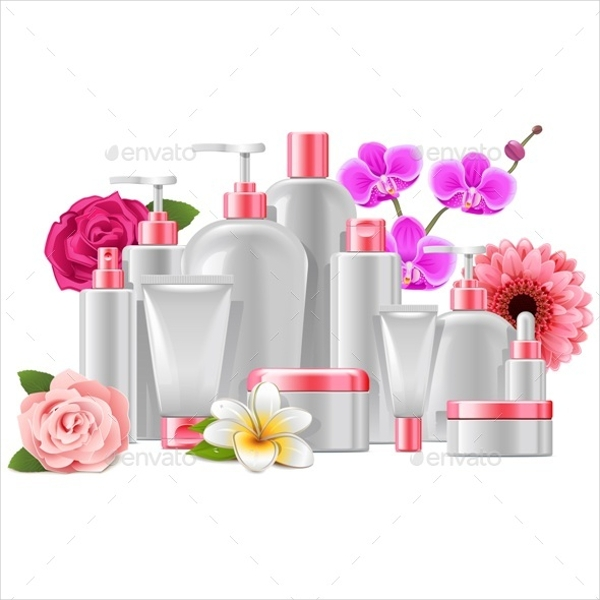 Cosmetics Packaging With Flowers