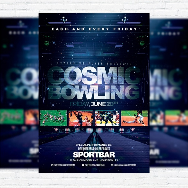 Cosmic Bowling Flyer Cover