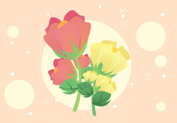 Cotton Plant Flower Illustration Vector