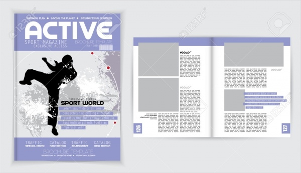 Cover Active Sports Event Magazine