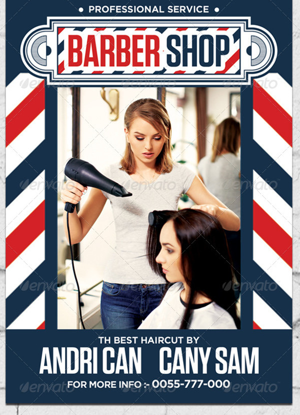 Creative Barber Shop Flyer Design
