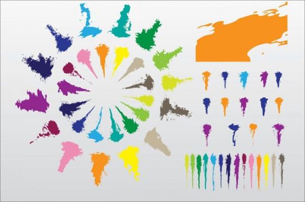 Creative Bright Fluid Stroke Brushes