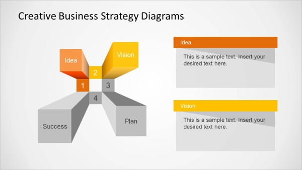 creative business strategy diagram presentation