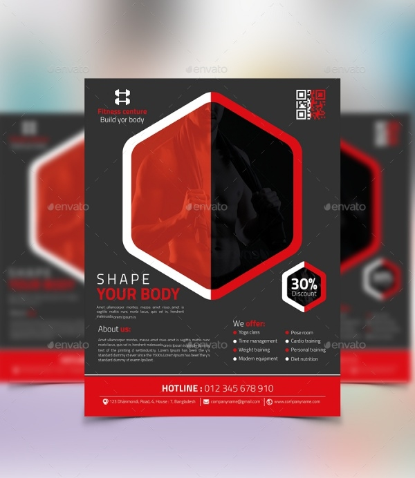Creative Fitness Flyer Design