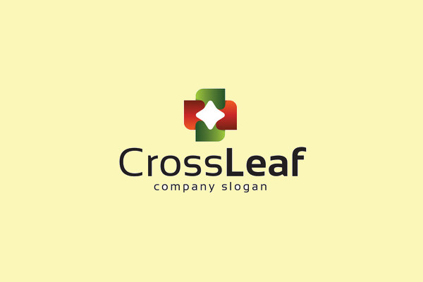 Cross Leaf Logo Design
