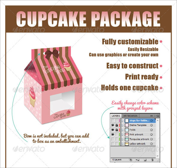 Cupcake Boxes Packaging Design