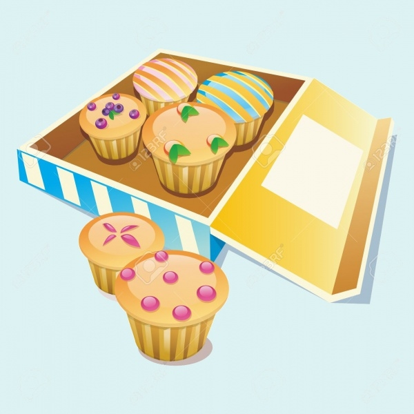 Cupcake Illustration Box Packaging