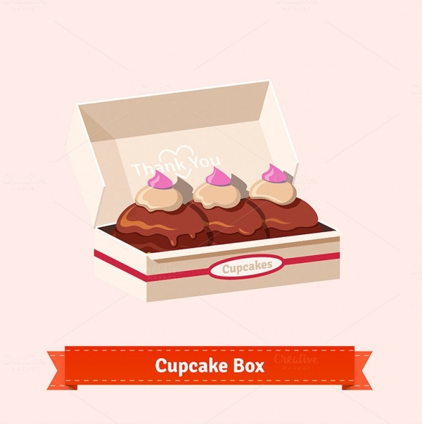 Cupcakes in the Cardbox Packaging