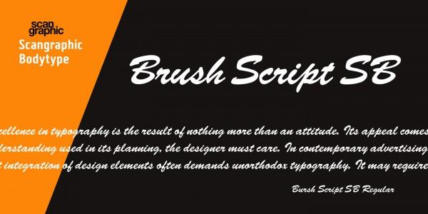 Cursive Brush Script Font