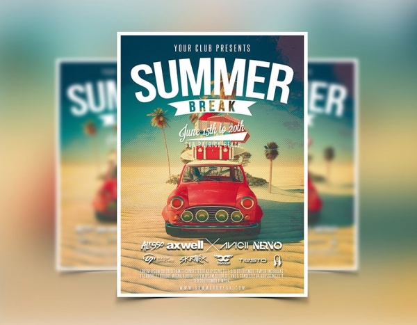 Customizable Summer Flyer For Club Party