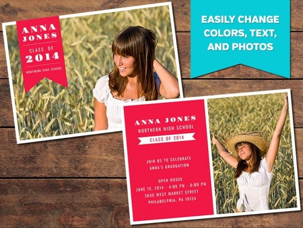 Customize Bold Graduation Announcement Card