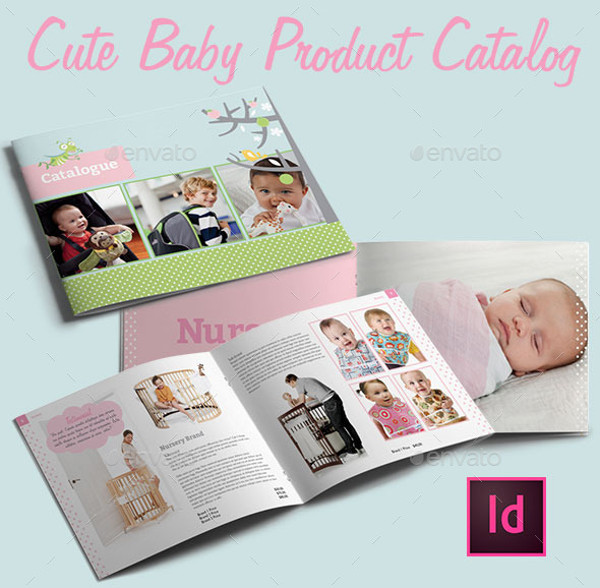 Cute Baby Product Catalog Brochure