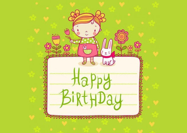 Cute Kid Birthday Card Templates