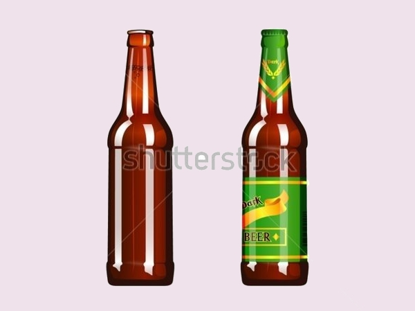 Dark And light Beer Bottle Vector